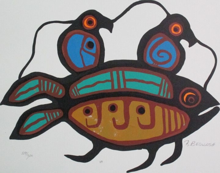 """Plate VIII"""" Sacred Fish"""""""
