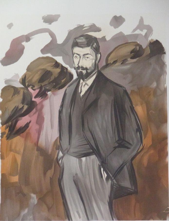 Portrait d'un homme debout avec barbiche