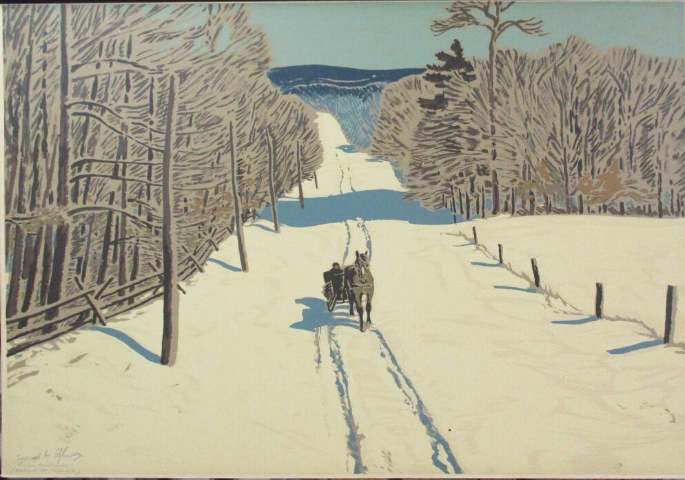 Bathurst St Thornhill by Thoreau Macdonald at ArtFINDca