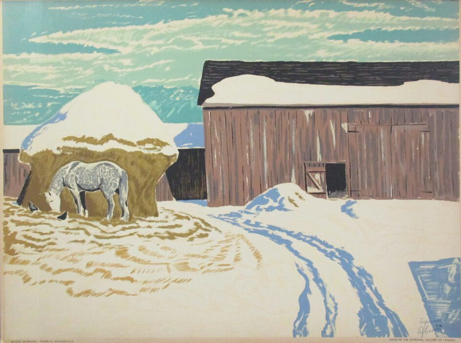 Winter Morning by Thoreau Macdonald at ArtFINDca